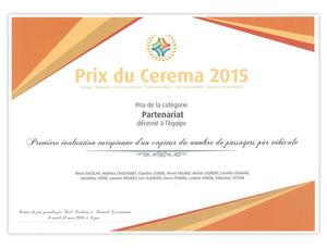 Diplome prix cerema 2015 image