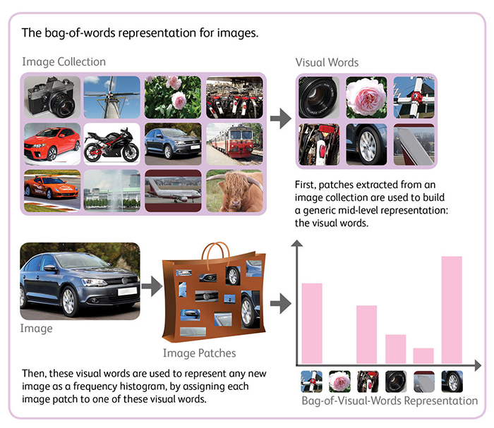 Bag of visual word representation for images image