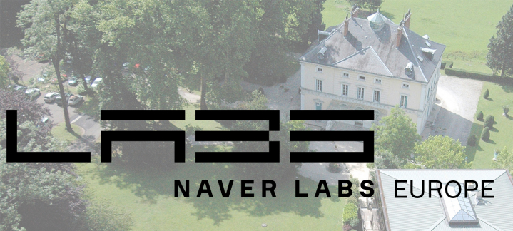 NAVER LABS Europe logo and site photo background