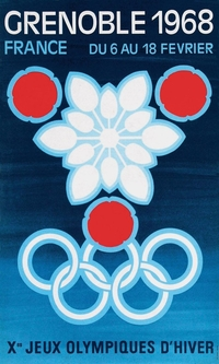 Grenoble Olympics 1968 poster image