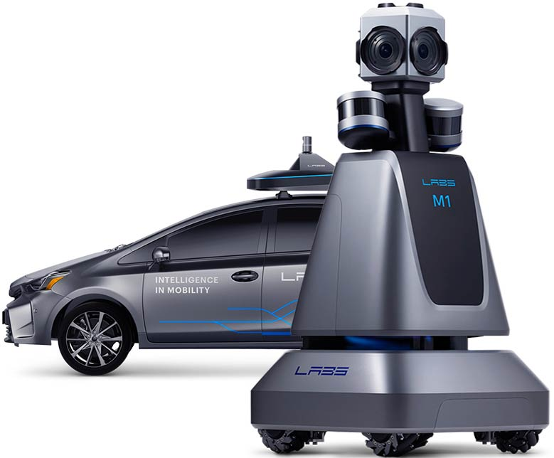 Image of M1 robot and autonomous car
