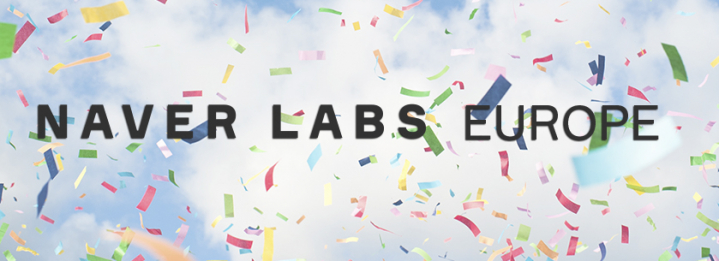 NAVER LABS Europe Logo with party background image