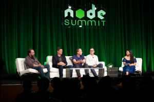 Photo of Panel discussion 'NODE.JS and the Frameworks of the Web' at NODE Summit