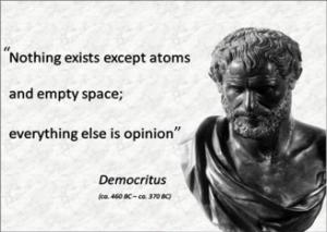 photo of Democritus citation