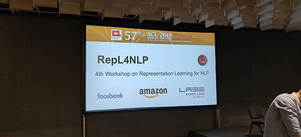 ACL 2019 workshop RepL4NLP photo