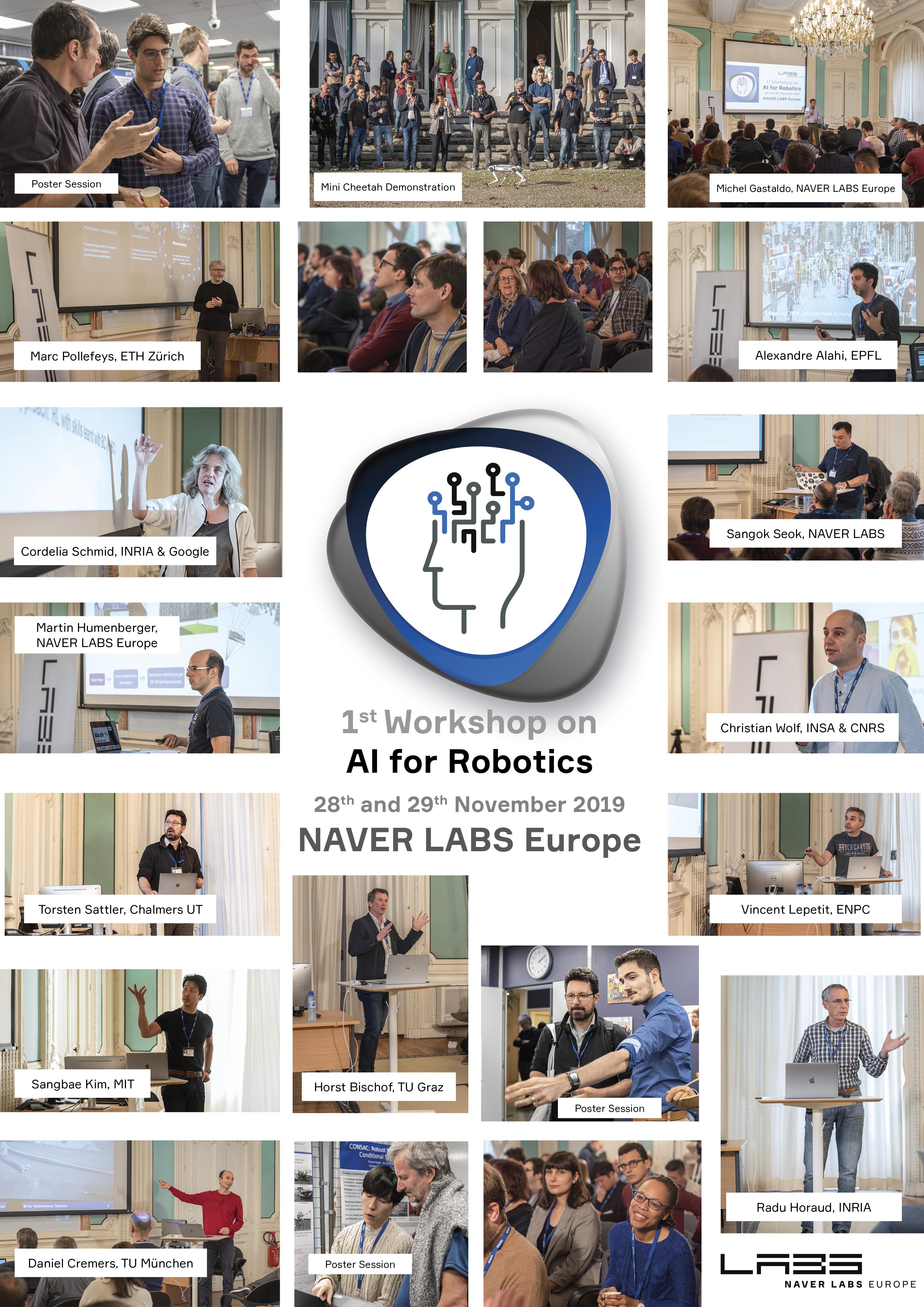 AI for robotics workshop photos