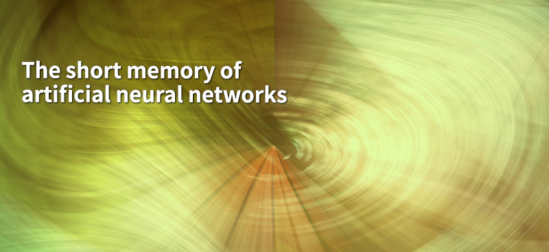 The short memory of artificial neural networks