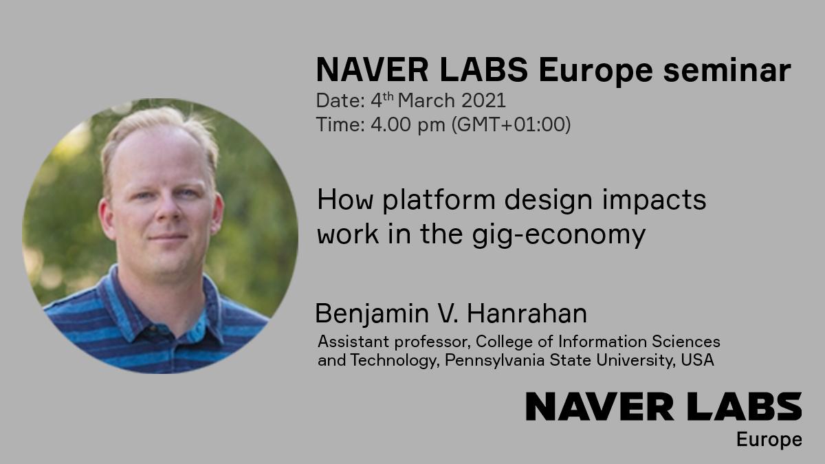 NAVER LABS Europe seminar with Ben Hanrahan